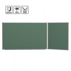 Доска школьная 2-элем. BoardSYS 120x255 см (170-85), магнитно-меловая антибликовая (ДЭ1*255Мпр), правая