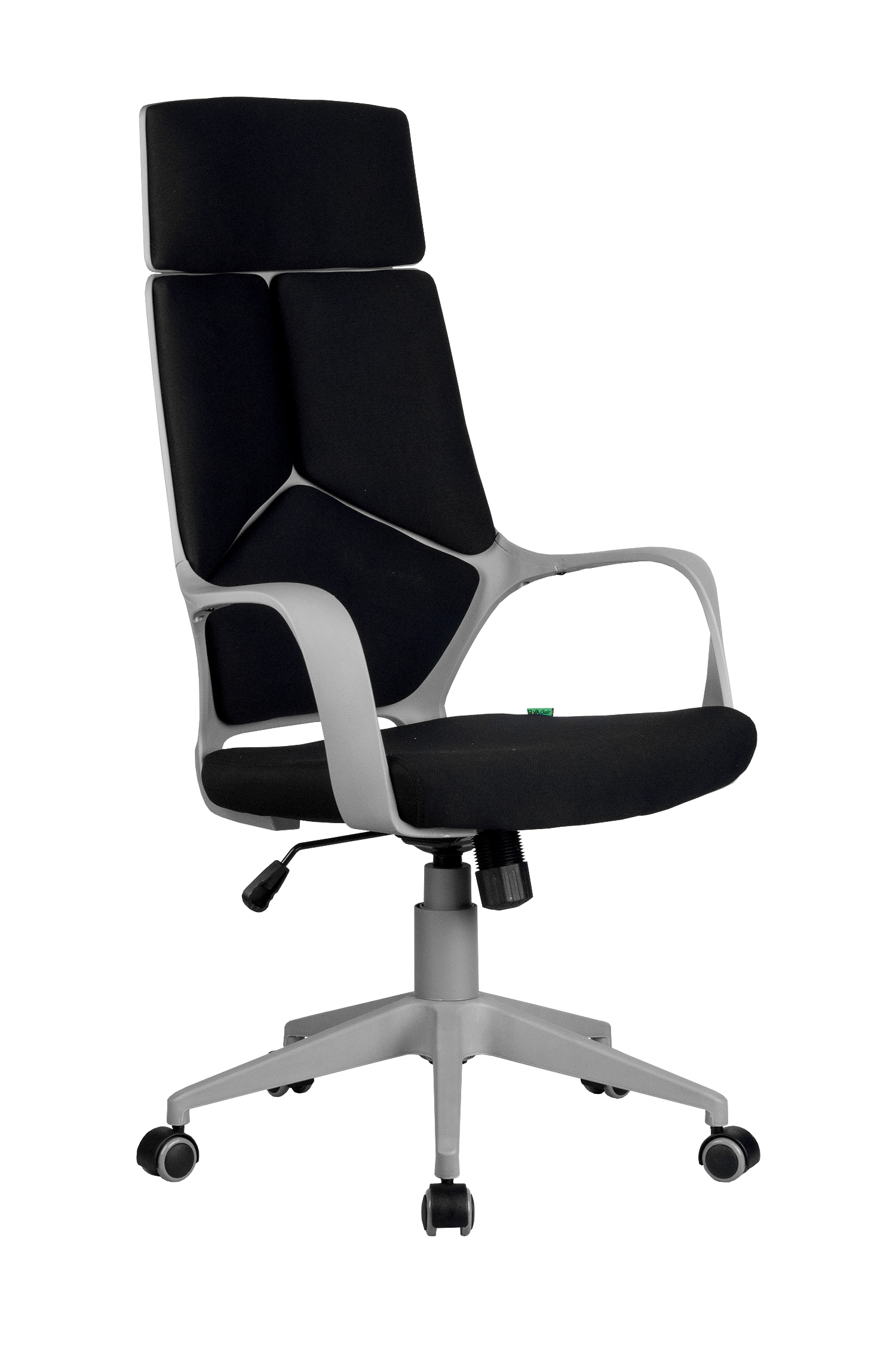 Кресло компьютерное Riva Chair 8989 (черный пластик) Черный цвет, ткань