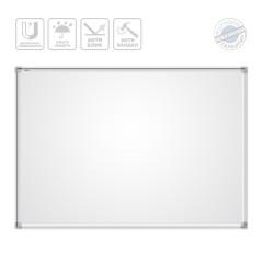 Доска магнитная маркерная BoardSYS 120 х 180 см, металлокерамика антивандальное покрытие, алюминиевый профиль