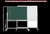 Доска поворотная магнитная комбинированная BoardSYS 100 х 150 см, полимерное покрытие, алюминиевый профиль, 2-стор, на колесах