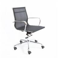 Кресло офисное Кайман Н CK-11, хром, сетчатая ткань, черный