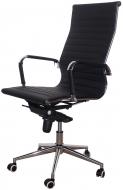 Кресло для руководителя MF-1903, улучшеный синхромеханизм и крестовина, экокожа черный