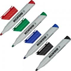 Набор маркеров для флипчартов Kores XF1 4 штуки (толщина линии 3 мм)