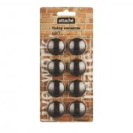 Набор магнитов для доски Attache Loft 40 мм, 8 штук, цвет: черный
