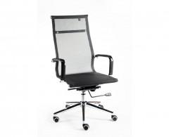 Кресло NORDEN Хельмут хром, черная сетка (H-102-1)