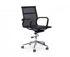 Кресло NORDEN Хельмут LB, хром, текстильная сетка премиум, черная (HA-102-1)