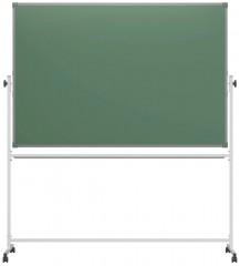 Доска поворотная магнитно-меловая антибликовая BoardSYS 100х150 см, 2-стор, на колесах (ПО*150М)