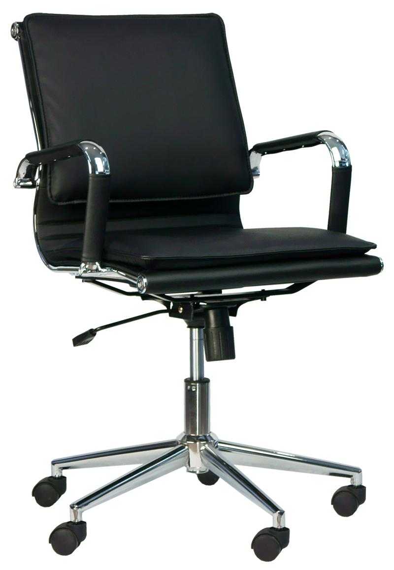 Кресло для персонала Everprof Nerey LB T экокожа черный