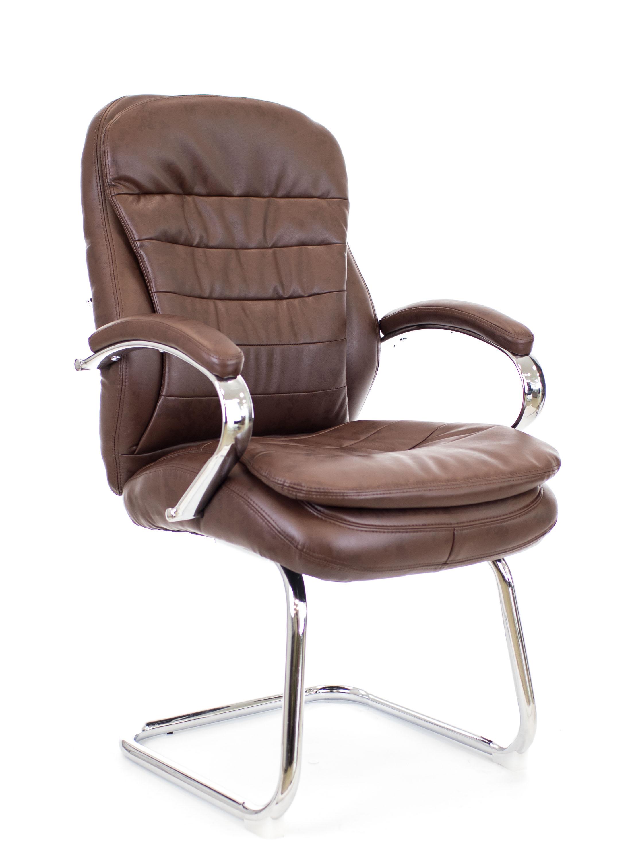 Конференц кресло Everprof Valencia CF экокожа коричневый